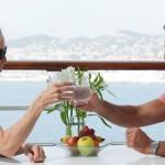 Azamara Couple Toast on Deck